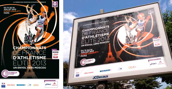 Affiche Championnats de France Athletisme Elite 2013