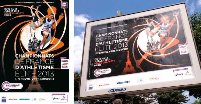 Affiche Championnats de France Athletisme Elite 2013