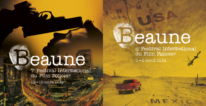 Festival International du Film Policier de Beaune - Creation affiche 2014 - 2015 Festival Beaune Film Policier