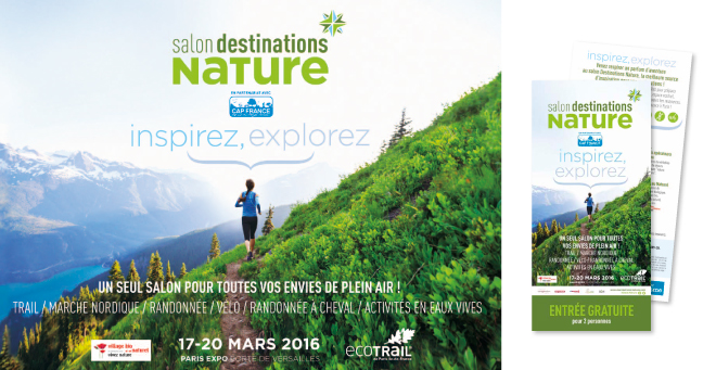 Affiche & invitation salon Destinations Nature