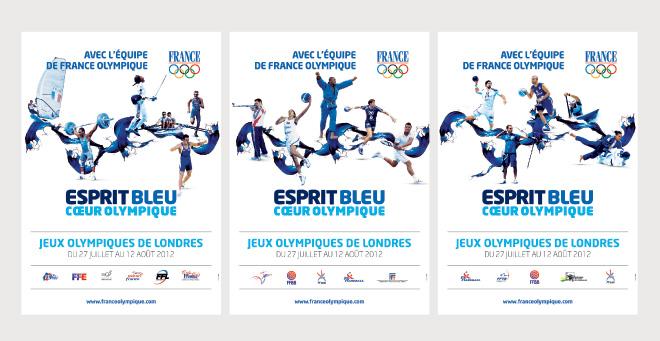 Affiches Equipe de France Jeux Olympiques Londres 2012