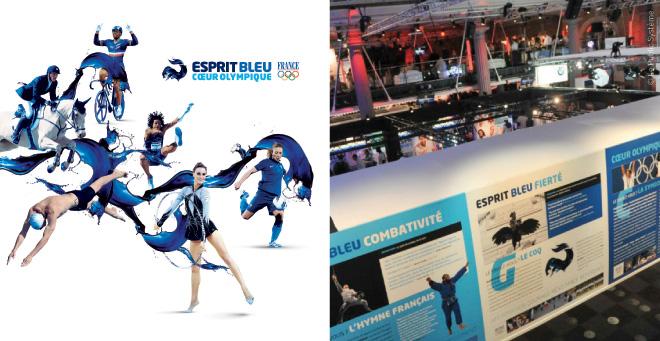 Visuel Equipe de France Jeux Olympiques Londres 2012 - Panneaux Club france