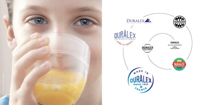 Historique logotypes Duralax