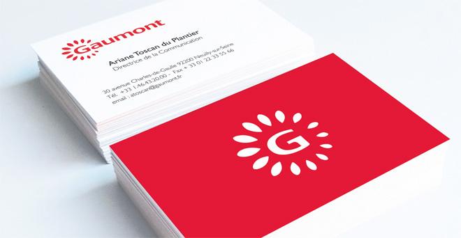 Création logo Gaumont - Cartes de visite