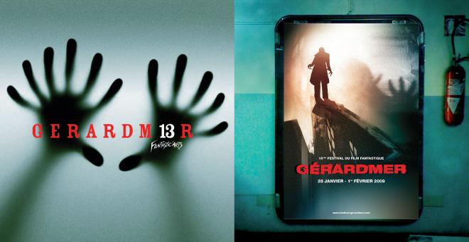 Création affiche 2007 - 2008 du Festival du Film Fantastique de Gerardmer