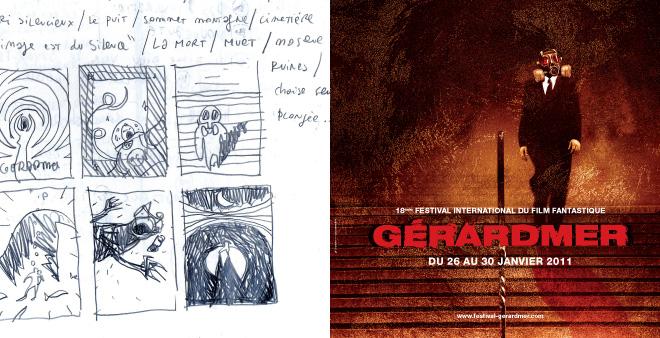 Creation affiche 2011du Festival du Film Fantastique de Gerardmer - croquis