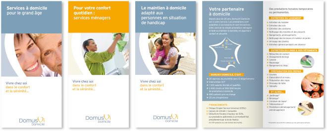 Création editions DomusVi Domicile - leaflet