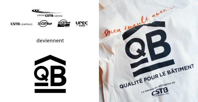 Logo QB sur différents supports