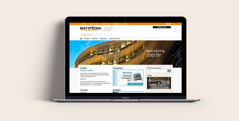 Site internet CSTB Batipedia