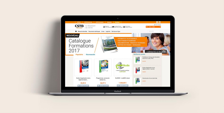 Site internet CSTB Éditions