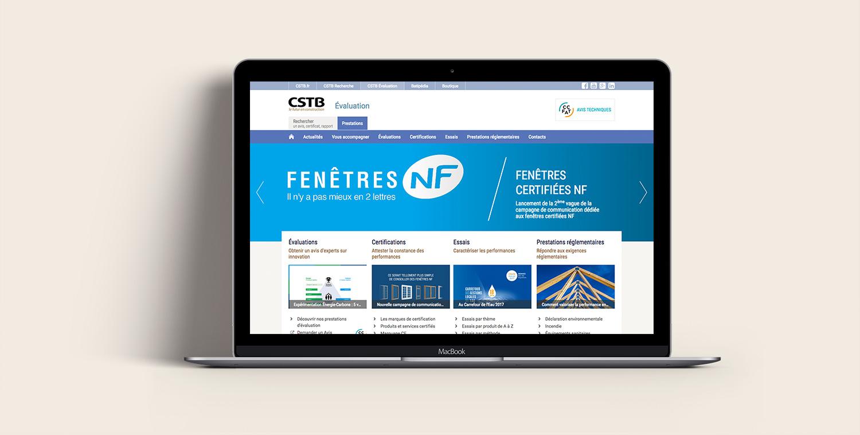 Site internet CSTB Évaluation