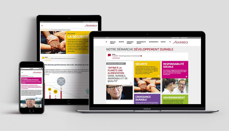 Site internet Adisseo Développement Durable