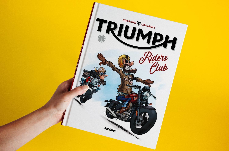 Couverture de TRIUMPH Riders Club - Tome 1 - Hachette Comics - Robinson